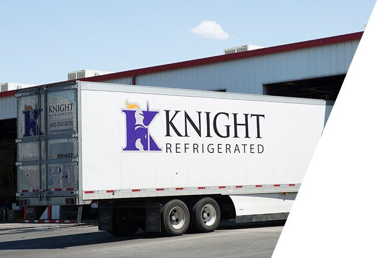 Knight Transportation referigerated truck at loading dock