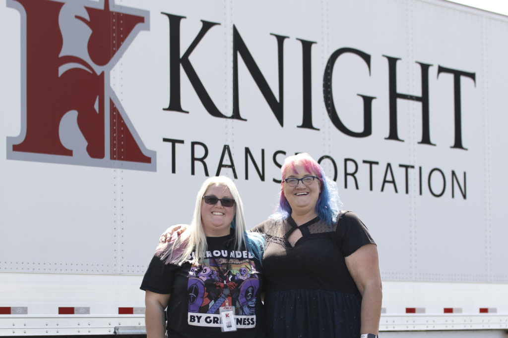 Demand for women in trucking - Female truck drivers at Knight Transpotation